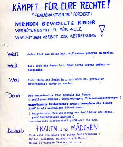 Flugblatt von 1971