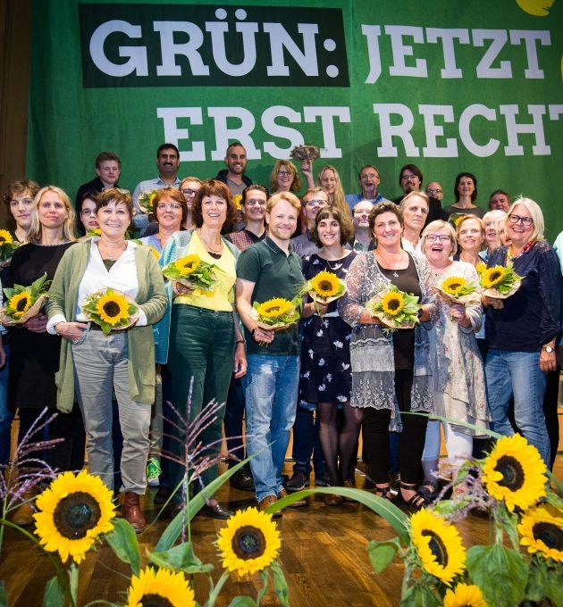 Die Kandidierenden der Liste zur Landtagswahl 2017 nach ihrer Wahl