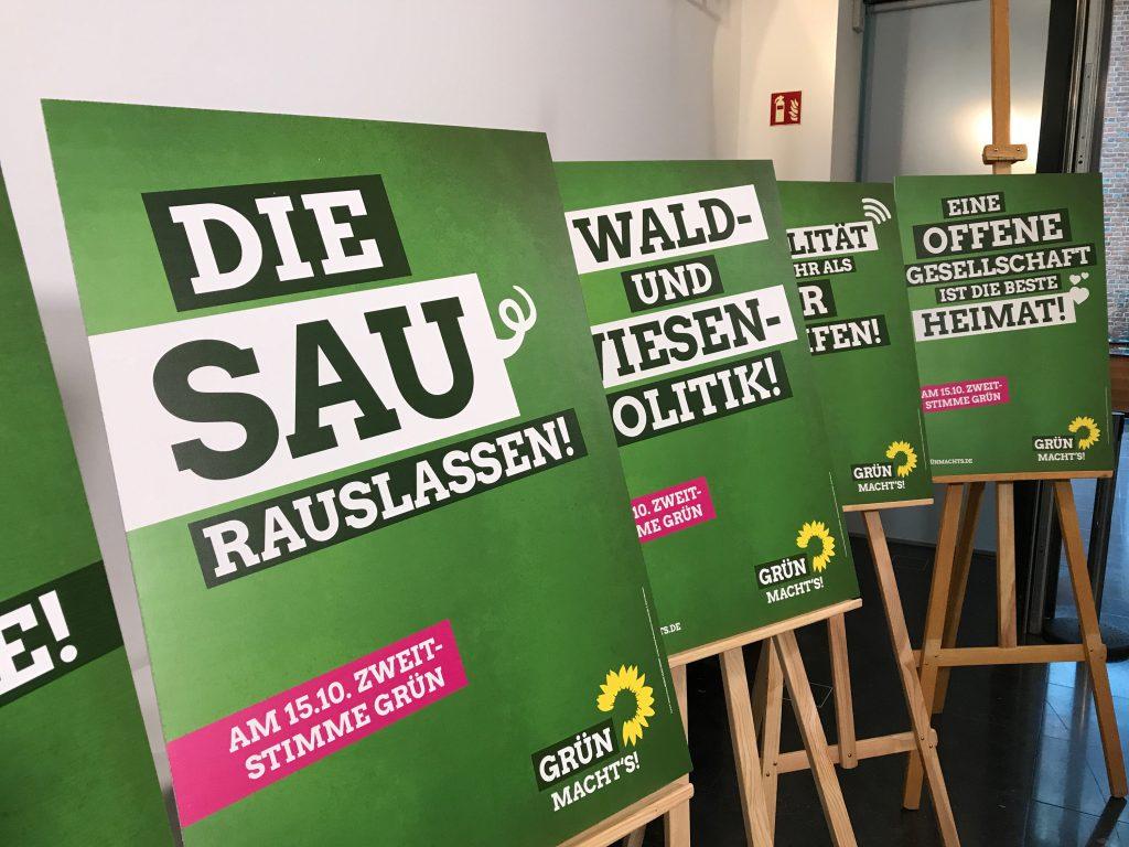 Grüne Plakate zur Landtagswahl 2017
