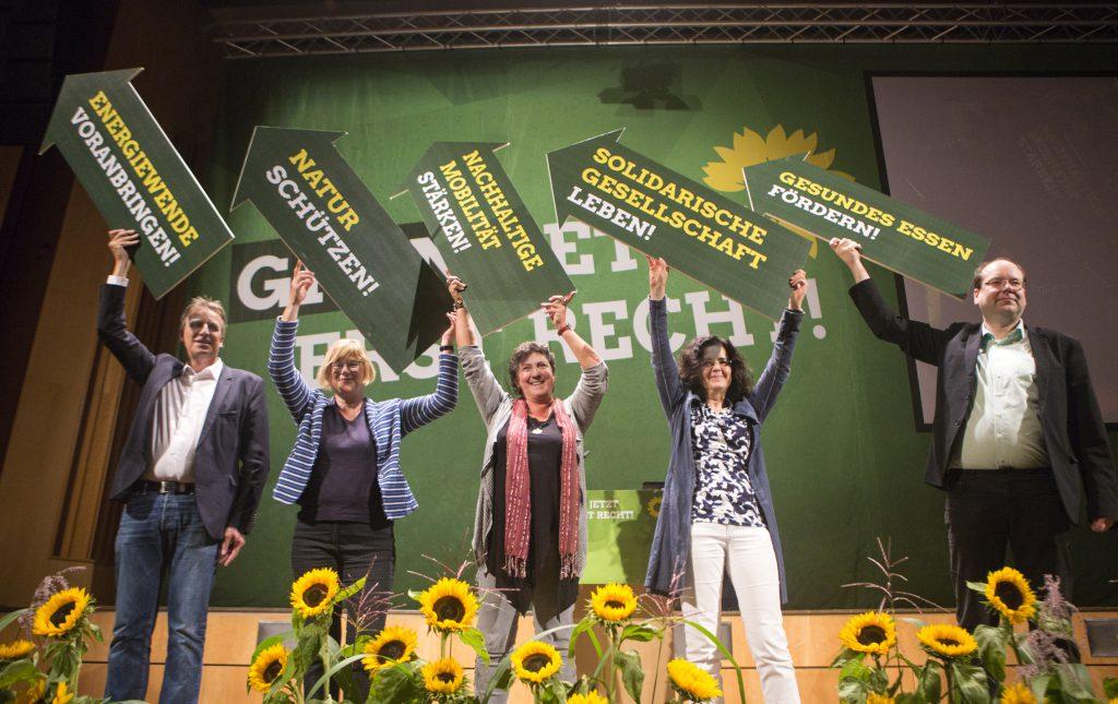 Grünes Spitzenteam zur Landtagswahl 2017: Anja Piel, Antje Niewisch-Lennartz, Gabriele Heinen-Kljajić, Stefan Wenzel und Christian Meyer