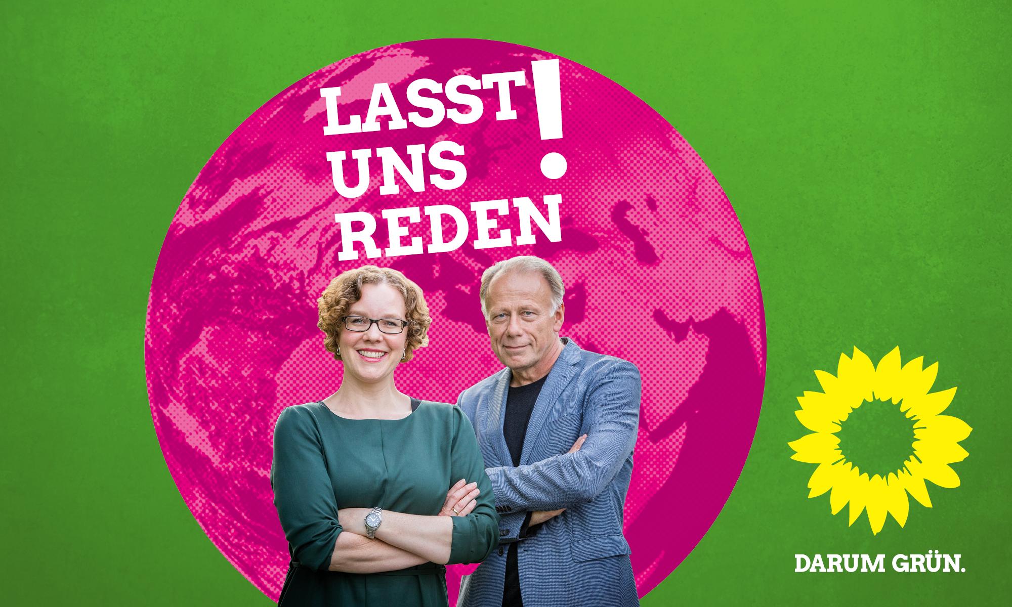 Townhall-Veranstaltung zur Bundestagswahl 2017: Julia Verlinden und Jürgen Trittin