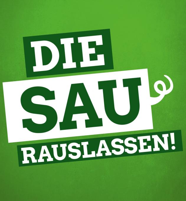 Die Sau rauslassen: für ökologische Landwirtschaft in Niedersachsen.