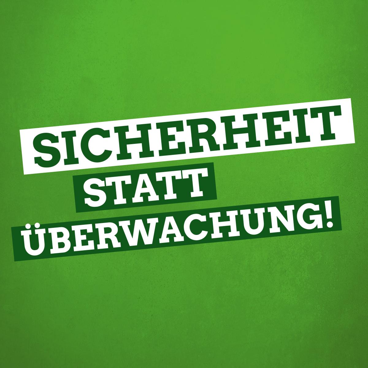 Sicherheit statt Überwachung: Für Bürgerrechte und Sicherheit in Niedersachsen.