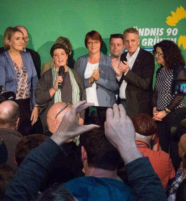Grüne auf Wahlparty am Abend der Landtagswahl 2017