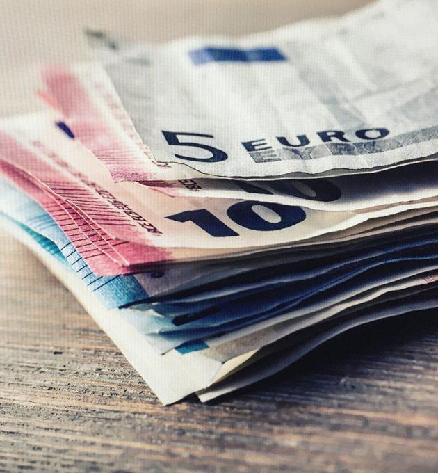 Einige Geldscheine (Euro)