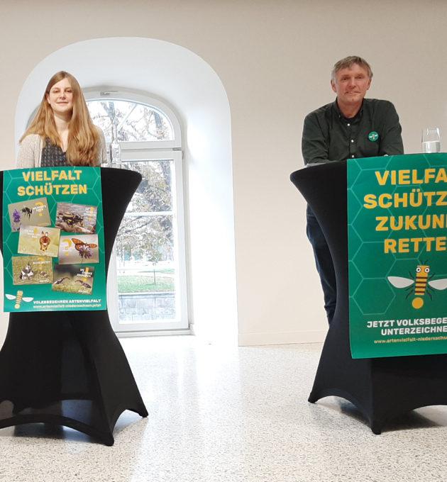 GRÜNEN Landesvorsitzende Anne Kura und Hanso Janßen